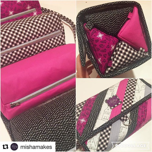 Here's a beautifully made #rolliepollieorganizer from @mishamakes. Love the fabrics she chose! #cozynestdesign #sewingproject #sewingpatterns #Repost @mishamakes with @repostapp ・・・ For the Sewtopia #michaelmillerfabricchallenge I submitted this super fun | by Cozy Nest Design
