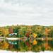 Autumn at Lake Teedyuskung - Pocono Mountains by Vivienne Gucwa
