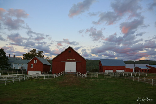 sunset red chimney white grass clouds farmhouse barn rural fence twilight vermont farm shed np putney dummerston outbuildings rurallife windhamcounty sweettreefarm wyojones