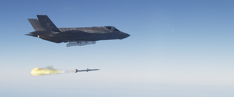First F-35 Live Fire Weapon Test with a AIM-120 AMRAAM