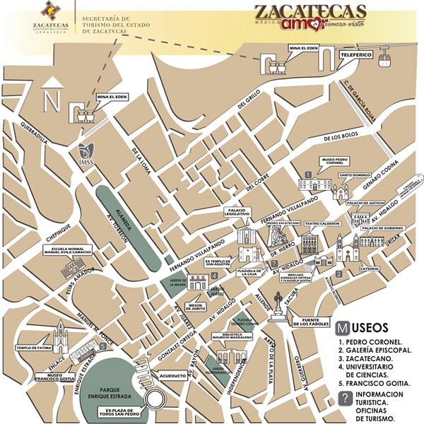 Zacatecas Map on