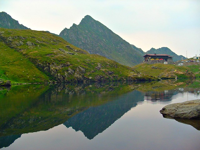 Glacier lake reflection