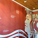 A mural of Papa, mother earth, in the stairwell of Hale'ōlelo, the home UH Hilo's Ka Haka 'Ula O Ke'elikōlani College of Hawaiian Language. The college was named after Princess Ruth Ke'elikōlani and part of her signature can be seen on the left side of the image.