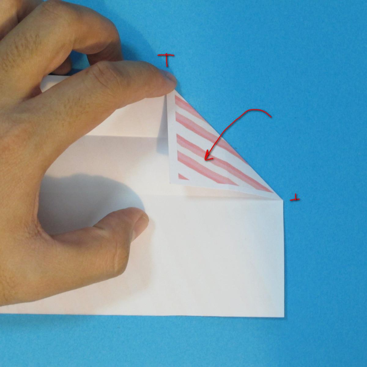 วิธีพับกล่องกระดาษรูปหัวใจส่วนฐานกล่อง 009