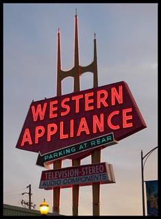 Western Appliance Sign