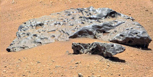 Meteorite on the Floor of Gale Crater 2 | by sjrankin