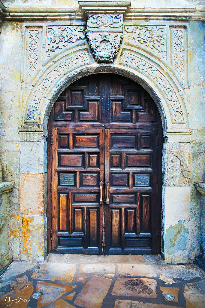 The Door The Front Door Of The Alamo In San Antonio