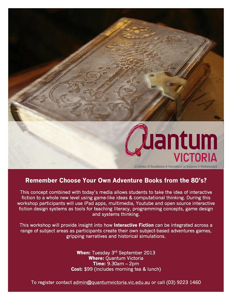 Interactive_Fiction_Workshop | Quantum Victoria | Flickr