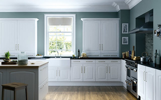 Apex Cottage Arch White Text. Kitchen | by MP Bedrooms