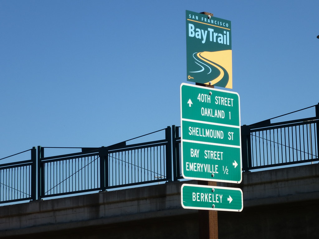Directional Signage Near Ikea   San Francisco Bay Trail ...