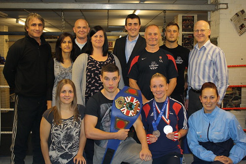 boxing club celebrates funding announcement