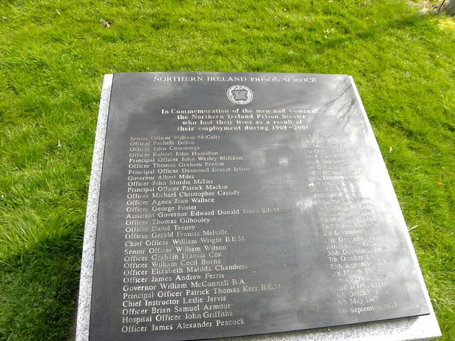 Northern Ireland Prison Service Memorial at the National Memorial Arboretum