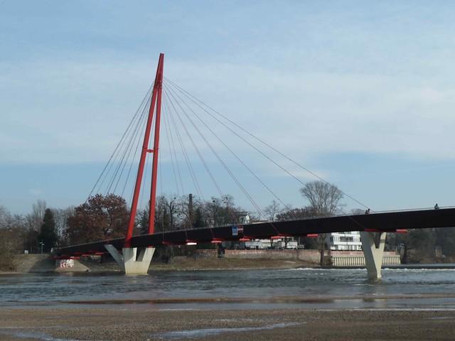 Cracau Bridge in Magdeburg, Germany