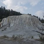 Travertine formation at Mammoth Terrace