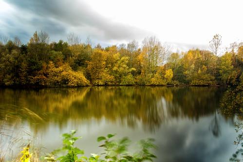 hamburg deutschland nature natur teich see rahsee niendorf rahmoor pond longtimeexposure autumn herbst