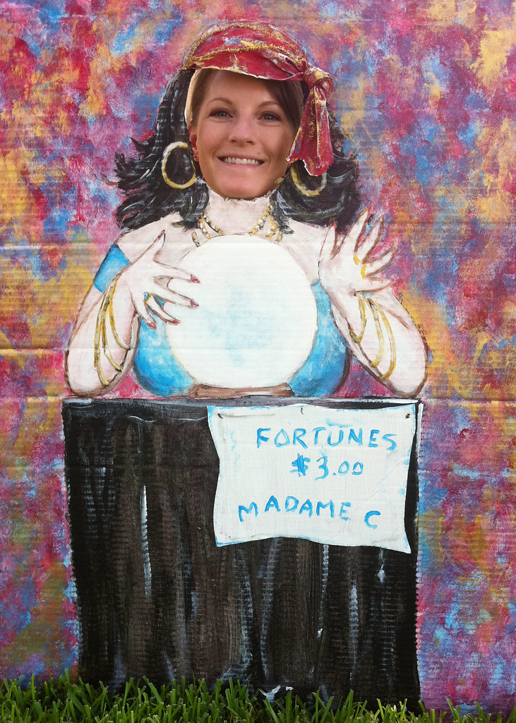 My Daughter, behind Fortune Teller Photo Face Cutout | Flickr