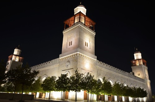 light tree night landscape king minaret islam amman mosque jordan hussein مسجد dabouq الملك الحسين