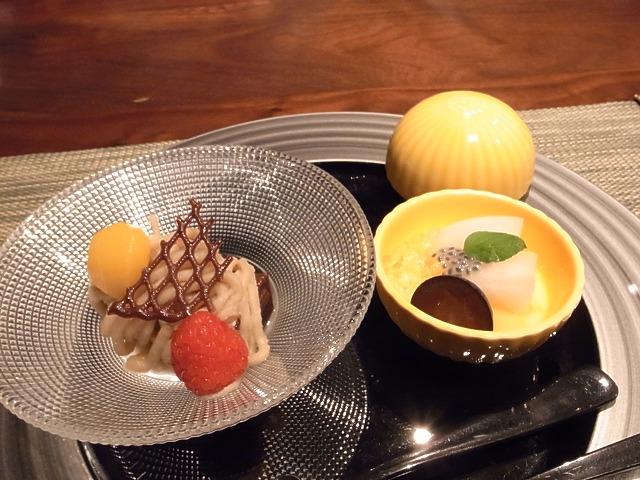 <p>k)水菓子<br /> 料理長おすすめデザート</p>