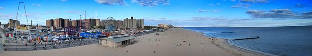 Coney Island Canon Short Panorama West