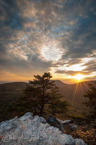 sunset sky tree rock clouds landscape photography nc nikon dramatic northcarolina hangingrock outcropping d90 hangingrockstatepark mooreswall johnathanbass