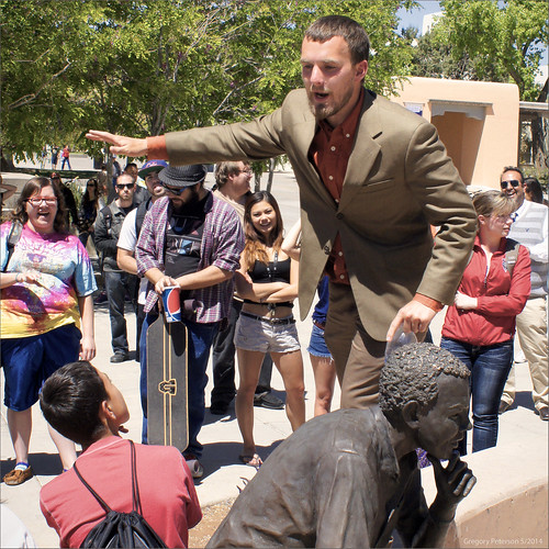 Another Preacher Man and a Hostile Crowd with Modern Art