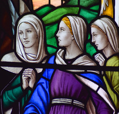 Three Marys at the empty tomb (Francis Skeat, 1965)