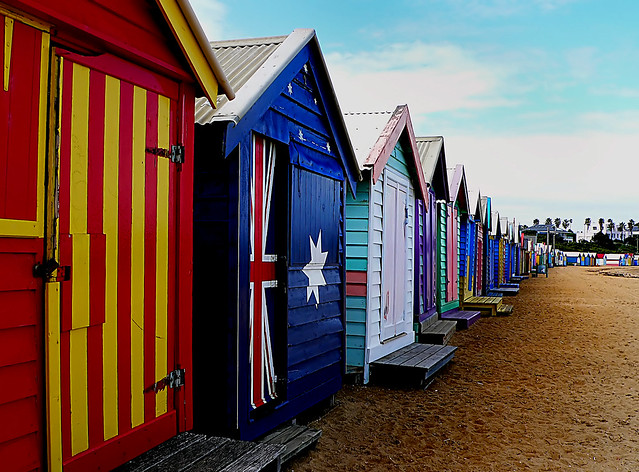 Bathing Boxes. Brighton Vic.Aust.