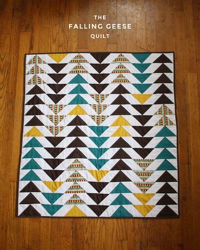 Falling Geese Baby Quilt   by michaelannn