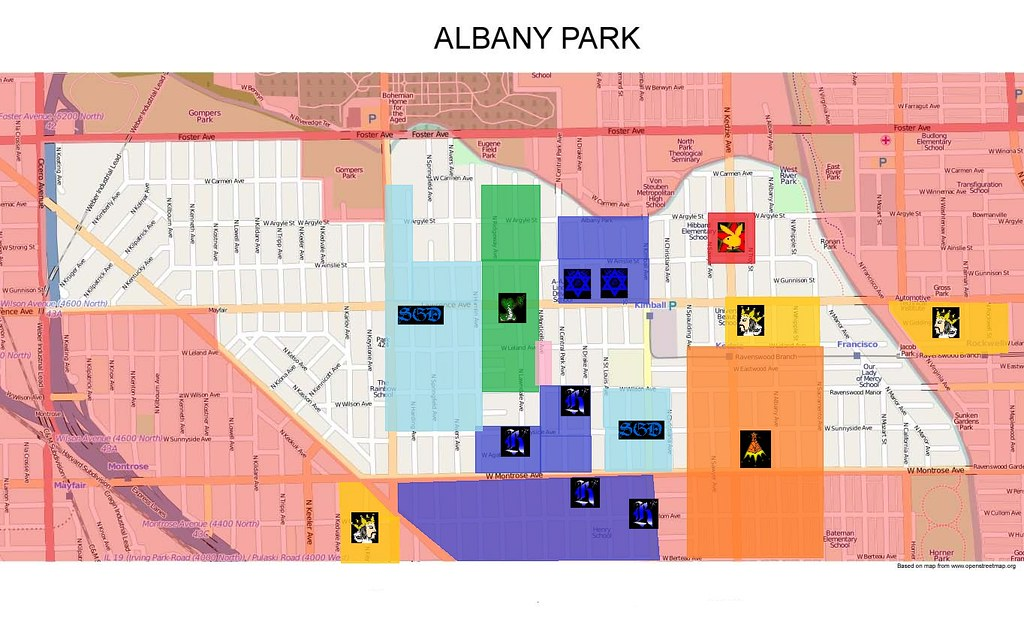 Albany Park Gang Map | Map of Albany Park, Chicago ...