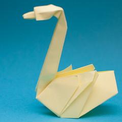 วิธีการพับกระดาษเป็นรูปหงส์ 026