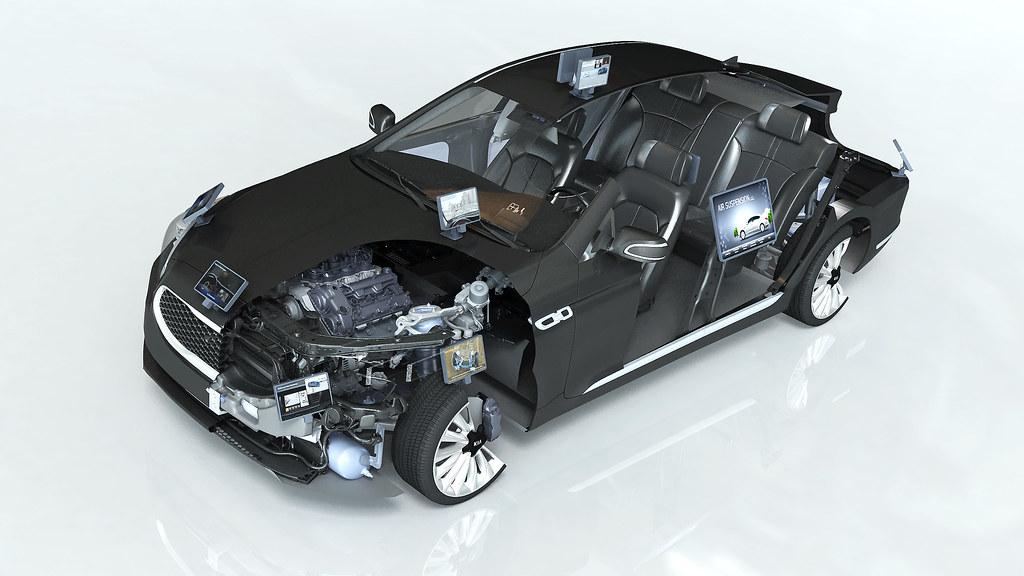 Kia at the CES 2014_Cutaway model car