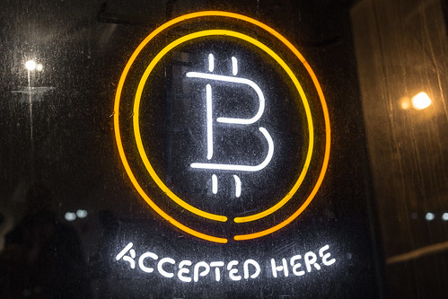 Bitcoin Logo - Bitcoin Accepted Here Neon Sign | by Duncan Rawlinson - Duncan.co