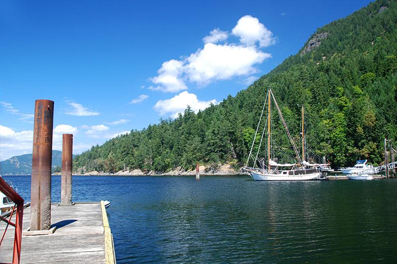 Burgoyne Bay Park, Burgoyne Valley, Saltspring Island, Gulf islands, British Columbia, Canada