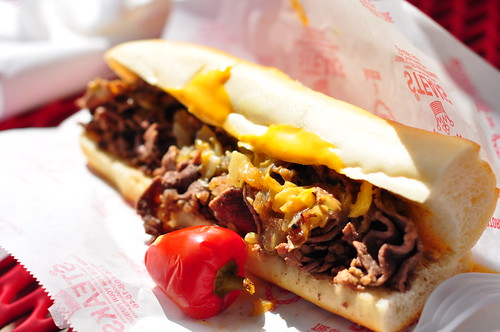 Pat's King of Steaks Philly Cheesesteak   by kimberlykv