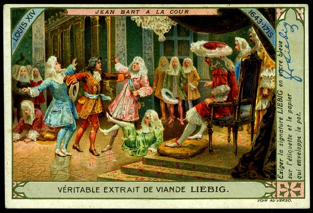 Liebig Tradecard S1007 - Jean Bart at Court
