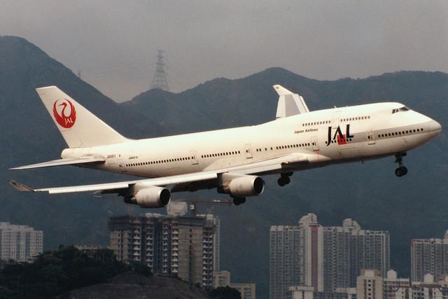 Japan Airlines   Boeing 747-400   JA8911   Hong Kong Kai Tak