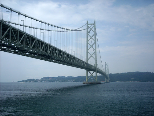 sea suspensionbridge 明石海峡大橋 akashikaikyo 吊り橋