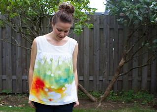 watercolor ruby top | by skirt_as_top