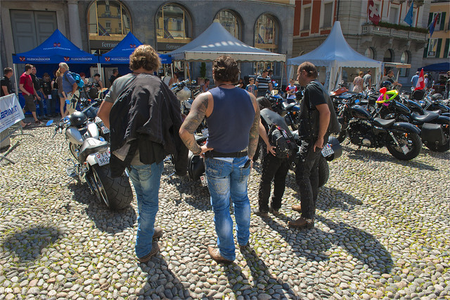 Harley Davidson Parade in Locarno. August 25, 2013.No.8434.
