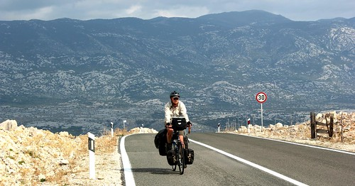 Cycling on Pag