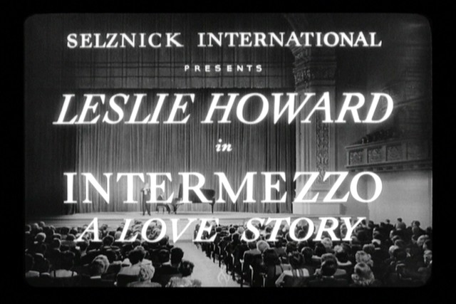 Intermezzo: A Love Story (1939) | Starring Leslie Howard & I… | Flickr