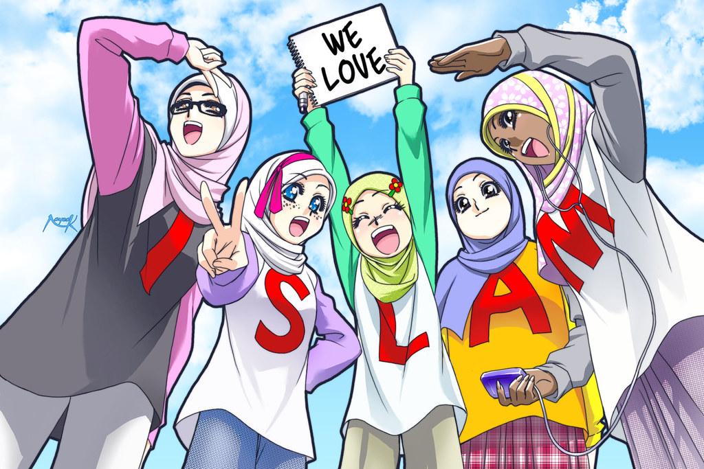 93+ Foto Gambar Kartun Islam Paling Bagus