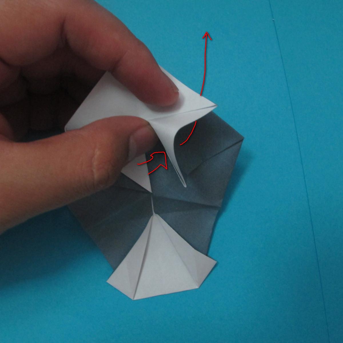 วิธีการพับกระดาษเป็นรูปนกเค้าแมว 021