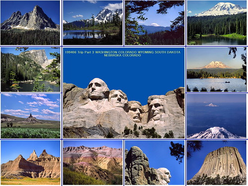 usa southdakota washington nebraska colorado landmarks wyoming nationalparks 199406trip