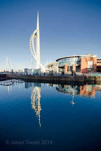 Spinnaker tower and Gunwharf Quay Monday Blues  - IMG_9051