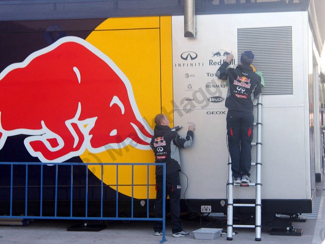 Red Bull prepare for Formula One Winter Testing 2014