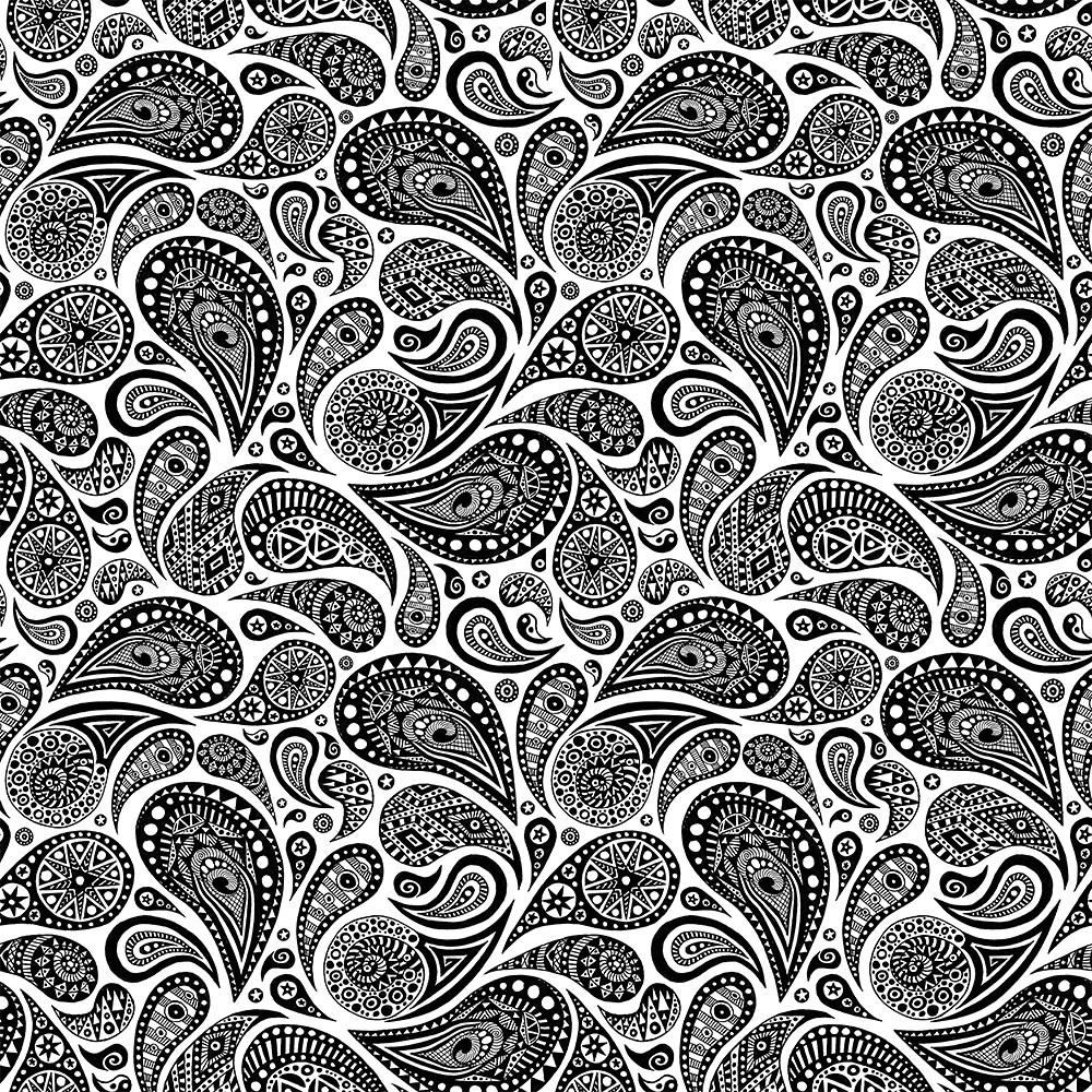 Crazy Paisley Pattern 4 Tiles A Drawing I Turned Into