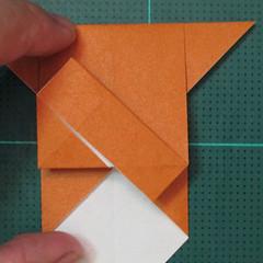วิธีพับกระดาษเป็นที่คั่นหนังสือรูปหมาบูลด็อก (Origami Bulldog Bookmark) 008