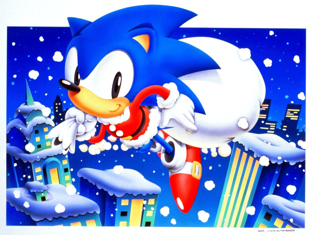 Sonic Christmas.Classic Sonic Christmas Photo Originally Located At Selan