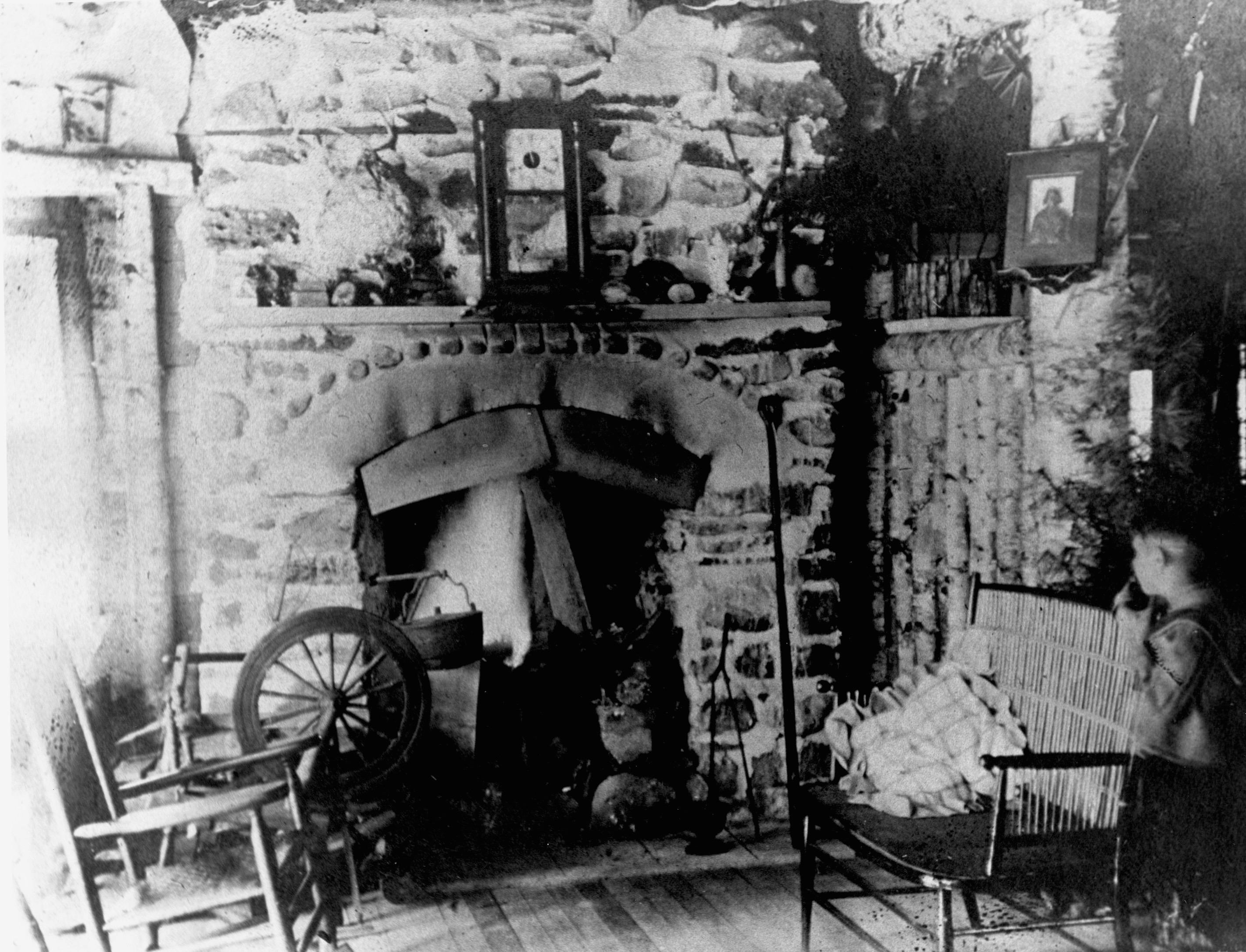 Fireplace in Bon Echo Inn